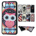 Vintage Tower in Map Big eye cute owl TPU gel Case Cover Skin for HTC Desire 626