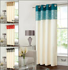 "Door Curtain One Panel Geneva 46x90"" Eyelet Sparkle Red Teal Black Natural"
