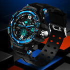 WEIDE Sports Men's Military Army Led Digital Silicone Brand Steel Wrist Watch