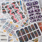 10/20 Sheet Nail Art Tips Foil Stickers Wrap Patch Decoration Random Design (K)