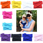 Lovely Mom Baby Rabbit Ear Knotted Turban Hairband Headband Head Wrap Set Gift
