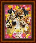 CATS - PDF/PRINTED X STITCH CHART 14/18 COUNT ARTWORK © STEVEN GARDNER