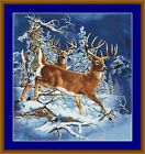 DEER IN WINTER -PDF/PRINTED X STITCH CHART 14/18 COUNT ARTWORK © S GARDNER