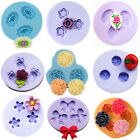 Flower Purple Silicone Mould Polymer Clay Decorating Fondant Craft 3D Pattern