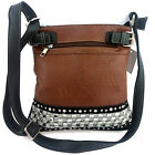 Rhinestone Studded Crystal Squares Messenger Bag Cross Body Purse