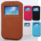 Genuine Leather Pouch black belt HOT Case cover skin for Samsung GALAXY S4 i9500