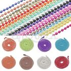 NEW 18 Candy Colors 1.5/2.4mm DIY Metal Bead Ball Chain Long Necklace 70cm/28""