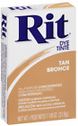 Rit Dye POWDER  - 31.9g Dyes Natural Fabrics, Nylon Based Plastic, Wood, Feather
