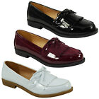NEW WOMENS LADIES SLIP ON FLATS OFFICE FRINGE TASSEL LOAFERS LOW HEEL SHOES SIZE