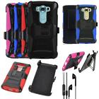 For LG V10 Phone Case Headset Earphone Handfree Holster Rugged Cover stand