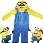 Official Despicable Me Minions Kids Dress Up Onesie Costume Fleece Ages 3-10 Yrs