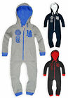 Boys Athletic Department Onesie New Kids Hooded All In One Nightwear 7-13 Years