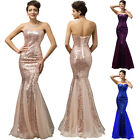 Sexy Long Sequins Mermaid Evening Gown Formal Bridesmaid Masquerade Prom Dresses