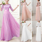 Elegant Women Lace Long Maxi Evening Party Dress Wedding Evening Dress Gown New