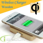 Wooden Qi Portable Wireless Charging Pad For Samsung Galaxy S6/S6 Edge+/Note 5