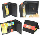 New Mens Leather Wallet Credit Card Change Holder Note Compartment Photo Holder
