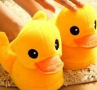 FD3305 Cute Yellow Duck Winter Cotton Warm Soft Anti-slip Home Slipper One Size