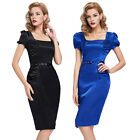 XMAS CHEAP Vintage Style 50s 60s Rockabilly Swing Pinup Wiggle Pencil Mini Dress