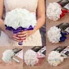 Bridal Colourfast Foam Roses Artificial Flower Wedding Bride White Bouquet Party