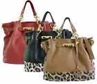 New Leather Style Women Shoulder Handbag Ladies Designer Tote Satchel Bag