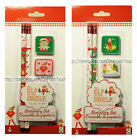 *THE ELF ON THE SHELF 4pc Kit STATIONERY SET Pencil+Erasers HOLIDAY *YOU CHOOSE*