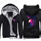 Mens Winter Thick Cos Fairy Tail Anime Hooded Sweatshirt Sweater Hoodies Black