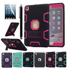 Shockproof Heavy Duty Rubber Hard Kickstand Case Cover For Apple iPad Mini 1/2/3