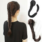 Lady Weave Straight Hair Extension Braided Ponytail Clip In Drawstring Hairpiece