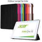 """QW Hard Folio Leather Holder Case Cover F 10.1"""" Acer Iconia One 10 B3-A20 Tablet"""