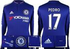 *15 / 16 - ADIDAS ; CHELSEA HOME SHIRT LS / PEDRO 17 = SIZE*