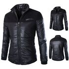 Men's Winter Warm Jacket Casual Coat Down Cotton Thicken Parka Outwear Trench