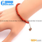 "4mm Round Gemstone Beads Handmade Stretchy Bracelet 7 1/2"" Adjustable GBeads"