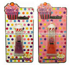 *JUST 4 GIRLS Lip Gloss CUPCAKE TOPPER Squeezy Tube GLITTER Carded *YOU CHOOSE*