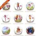 New Lovely 9PCS Mia and Me Cartoon Buttons Pins Badges 30mm Diameter,Kids Gifts