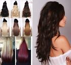 "Hair Extensions 18-28"" Clip In Double Weft 1pc one piece back head Best quality"