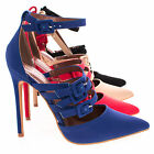 red pumps ankle strap - Retro Adjustable Strappy Buckle With Ankle Strap High Heel Pump