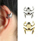 New Hot Lady Fashion Punk Silver Tone Golden Frog Cuff Ear Clip Wrap DIY Earring