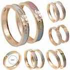 Women Frosted Metal Bracelet Gold Plated Bangle Cuff Shining Fashion Jewelry