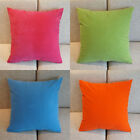 1x High Quality Candy Colors Waist Back Micro Suede Cushion Covers Pillow Cases