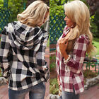 Lady Casual Long Sleeve Slim Fit Tops Hooded Sweater Slit Blouse Shirt Pullover