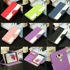 Luxury PU Leather Magnetic Flip Stand Card Slot Wallet Case Cover For LG G3