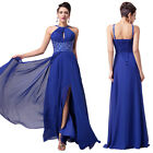 Elegant Long Blue Wedding Evening Party Gown Formal Masquerade Ball Dresses 2~16