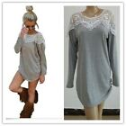 Women's New Fashion Casual Loose Shirt Long Sleeve Lace T-shirt Tops Blouse