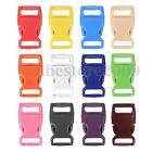 10 x 15mm  Plastic Side Release Buckles For Webbing Bags Straps Clips 5/8""