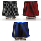"3"" HIGH FLOW DRY CONE COLD SHORT RAM AIR INTAKE FILTER UNIVERSAL 3-COLOR CHOOSE"