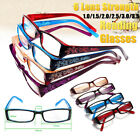 New Fashion Women Rimed Reading Glasses Resin Eyeglasses Carved w/Diamond Flower