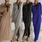 Plus Size Womens Sexy Casual Long Sleeve Maxi Dresses Loose Party Long Dress Hot