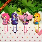 4pcs My Little Pony: Equestria Girl Bookmarks,Paper clips,Kids' Practical gifts