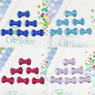 100 Pcs Hot Bowknot Bows Flatback Resin Beads Dotted Rhinestone 13*8mm 5 Colors