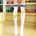 Cotton Strip Socks Tights Women Stockings Long Pantyhose New Over Knee Plus Size